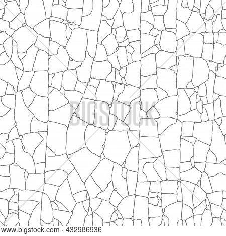Aged Peeling Glued Film. Broken Dilapidated Overlay Effect, Seamless   Pattern.the Cracks, Lines Tex
