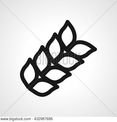 Wheat Agriculture Vector Line Icon. Wheat Linear Outline Icon.