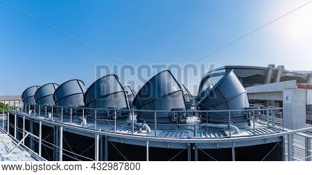 Ndustry Cooling Tower Air Conditioner Is Water Cooling Tower Air Chiller Hvac Of Large Industrial Bu