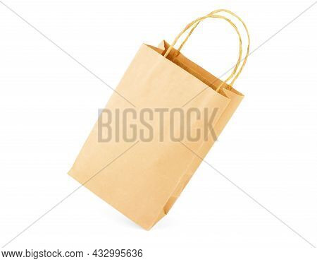 Blank Paper Bag On A White Background