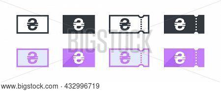 Ukrainian Hryvnia Money Sign. Ukrainian Hryvnia Coupon. Sign Of Payment By The Ukrainian Hryvnia. Ve