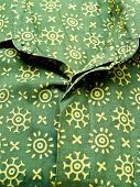 Green batik shirt texture from Yogyakarta Indonesia poster
