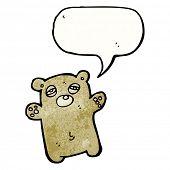 tired teddy bear cartoon poster