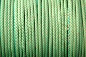 coil of green ropes poster