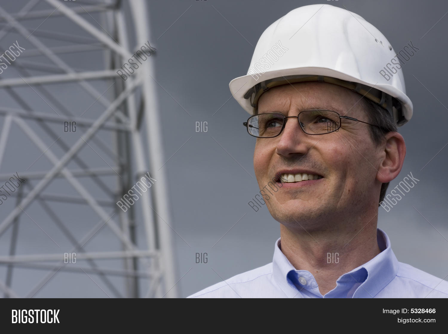 smiling engineer hardhat image photo bigstock. Black Bedroom Furniture Sets. Home Design Ideas