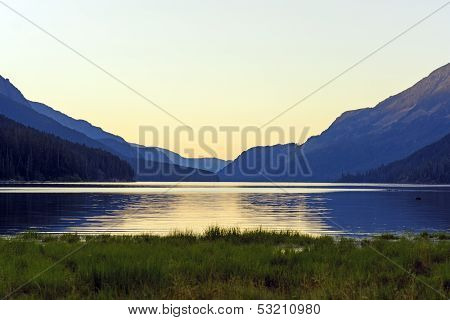 Twilight on Buttle Lake in Strathcona Provincial Park poster