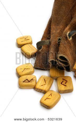 Runes In Leather Sack