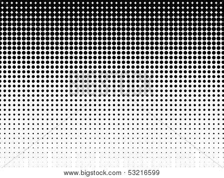 Halftone Background. Black-white