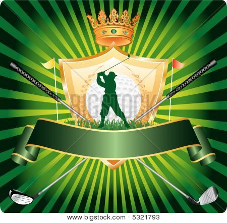 Golf Banner Silhouette