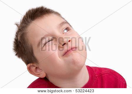 Kid Giving A Choosy Look
