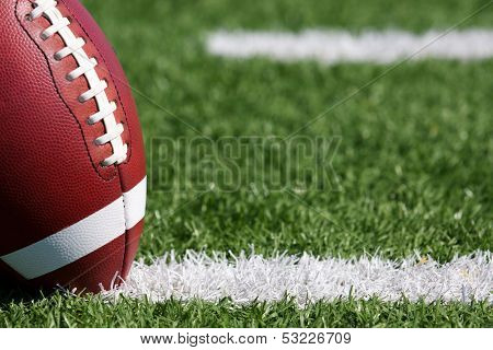 American Football on the Field near the hashmarks