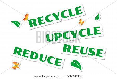Environmental Green Stickers