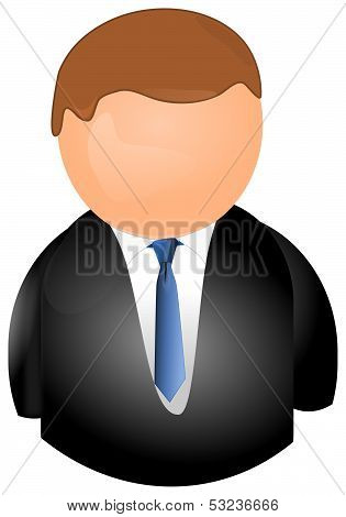 User icon in a business suit