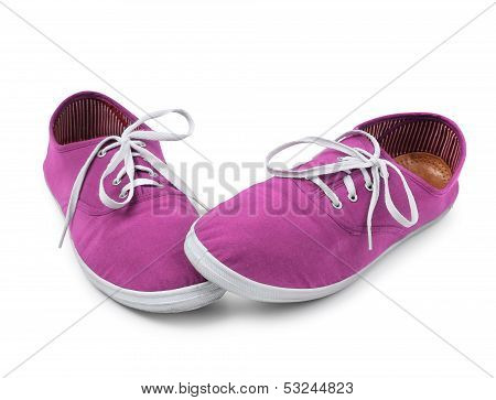 Shy Pink Sneakers Isolated