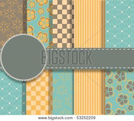 set of beaautiful vector paper for scrapbook