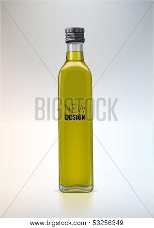 Bottle for new design. Olive oil
