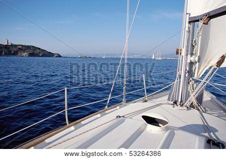 Bay Of Bandol From Sailboat, France