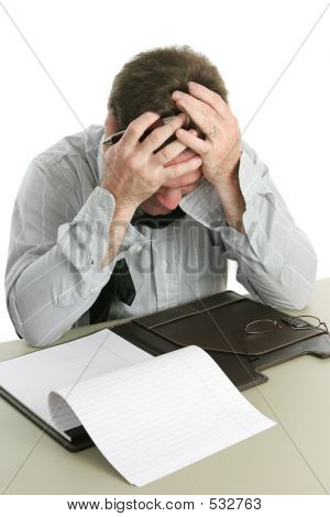 Office Worker - Frustration
