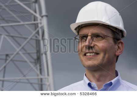 Smiling Engineer With Hardhat