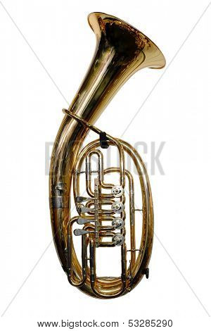 tuba isolated under the white background