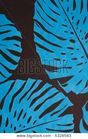 Blue Velvet Flowers Background