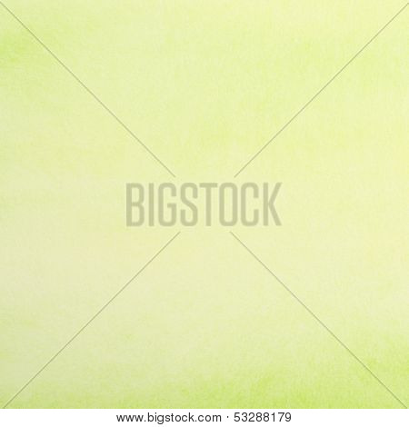 Watercolor Paper Painted In Green