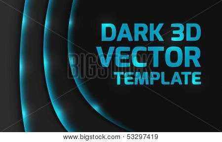 Abstract blue dark 3d design background