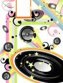 Abstract old style music event background with High contrast colors poster