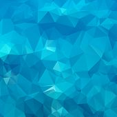 Abstract blue background polygon. Geometric backdrop. This is file of EPS8 format. poster