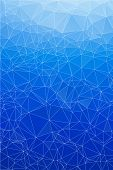 Blue ice abstract background polygon. Geometric backdrop. poster