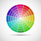 Color round palette on gray background vector illustration poster