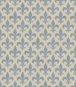 Blue and Beige Fleur De Lis Textured Fabric Background that is seamless and repeats poster