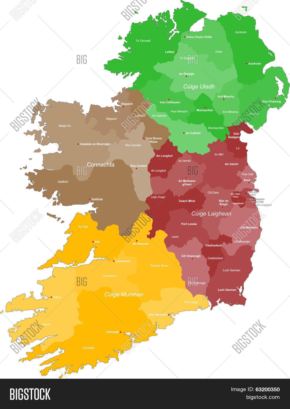 Map Of Ireland Vector.Map Ireland Vector Photo Free Trial Bigstock