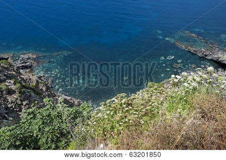 View of Pantelleria coast
