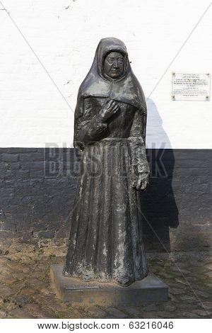 Bronze Statue Of Last Beguin Of Kortrijk.