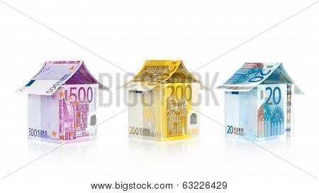 euro house with reflection