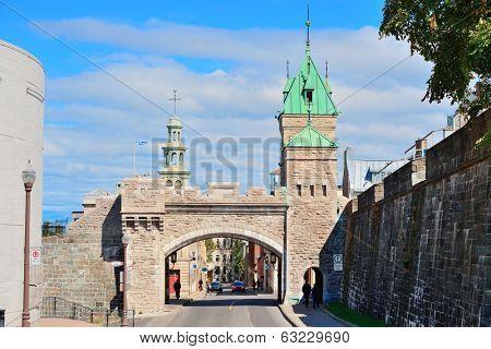 Porte Dauphine gate closeup in Quebec City