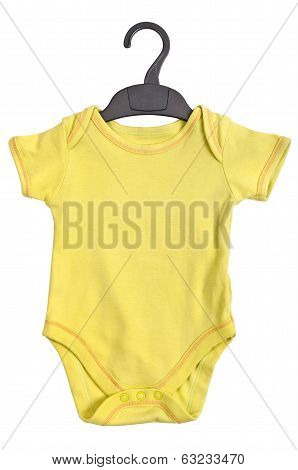 Yellow Baby Ringer T shirt with hanger