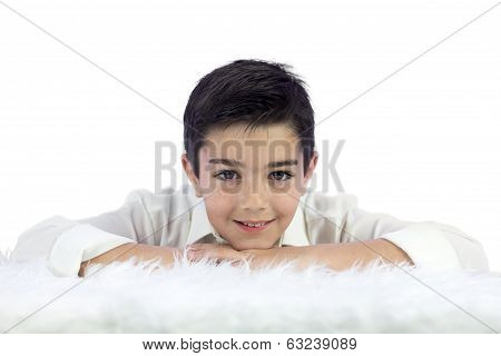 Young Boy In His First Communion