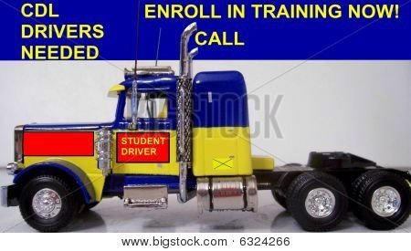 Truck Driver Training Sign