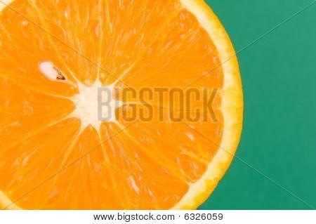 Orange On Green
