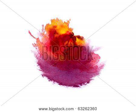 Abstract Hand Drawn Watercolor Spot
