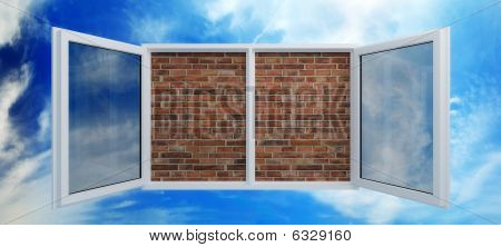 Window Put By A Bricklaying