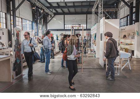 People At Ventura Lambrate Space During Milan Design Week