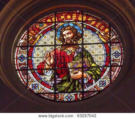 San Cecilio Patron Saint Caecilius Stained Glass Basilica Cathedral Andalusia Granada Spain