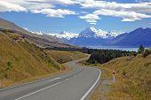 Mount Cook / Aoraki, Mount Cook National Park, South Island New Zealand poster