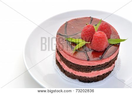 Mousse Chocolate And Raspberry Cake