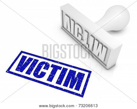 Victim Rubber Stamp