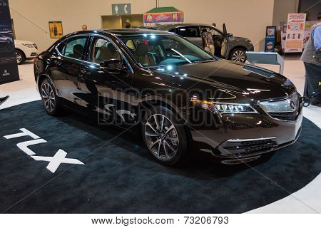 2015 Acura Tlx 3.5L Sh-awd Adv At The Orange County International Auto Show