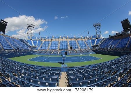 Luis Armstrong Stadium at the Billie Jean King National Tennis Center during US Open 2014